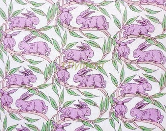 Liberty tana lawn printed in Japan - Coton tail - Lilac green mix
