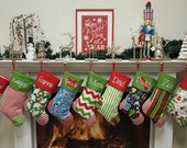 PERSONALIZED CHRISTMAS Stocking-  Ships for Christmas 2016