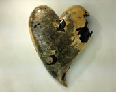 Wood Heart Loving Anniversary gift wood carving unique Wedding present by Gary Burns the treewiz