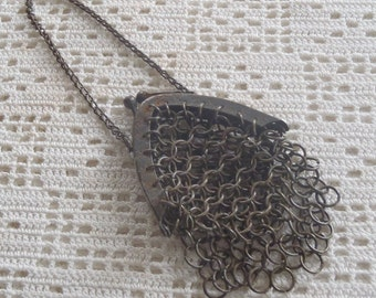 Vintage Mesh Chatelaine Purse Chain Maille