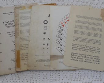 Vintage Vision Screening Charts American Optical Company 5 Pc.