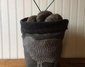 Wool Trundle Bag- Sheep Design- 10% plus free shipping