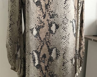 Snake Print light summer dress for Prom, Wedding or Engagement Party