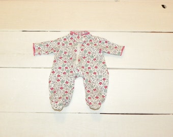 Pretty Patterned Footed Sleeper - 12 inch doll clothes