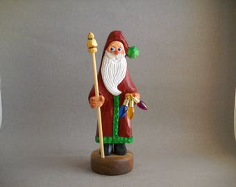 Wood carved Santa figure