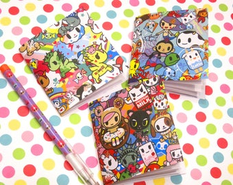 Tokidoki Mini Journals, Donutella, Unicorno, Moofia, Mermaid Ponies, Unicorn, Diary, Notebook, Note Pad, Party Favor, Mini Books, Kawaii