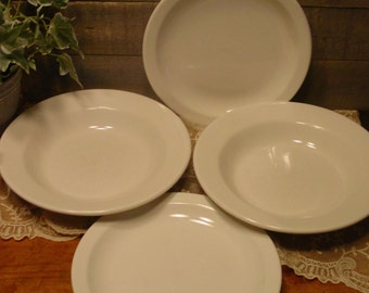 Ironstone Dishes - Homer Laughlin Bowls - Ironstone Plates - Farmhouse Decor - Cottage Chic Decor - Home Decor