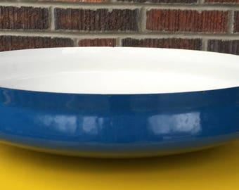 Dansk Kobenstyle Large Paella Pan, Vintage Dansk Designs France, Large Dansk Blue Enamel Pan, Jens Quistgaard Design