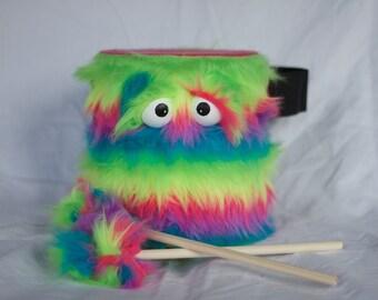 Kids Drum - Furry Rainbow Handmade Durable Eco-Friendly Fun Coolest Marching Drum For Kids 'BLAST BUDDY'