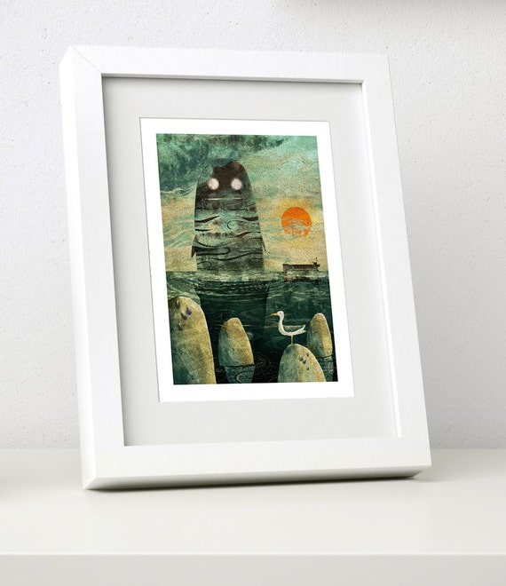 Sea Monster - Small Framed Print - Cruel & Curious