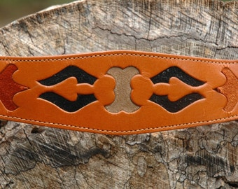 "1970s Western Belt.. Boho Cowgirl Belt... 30-33""...Beautiful Detailing"