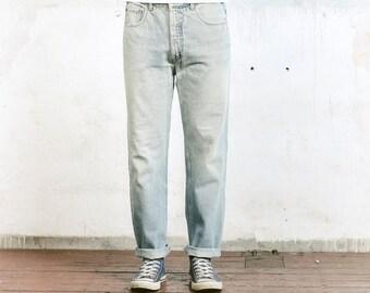 Light Blue LEVIS 631 Jeans . Denim Jeans Levis Orange Tab Jeans Vintage Men's Faded Ripped Jeans Straight Leg Size W34 Boyfriend Jeans