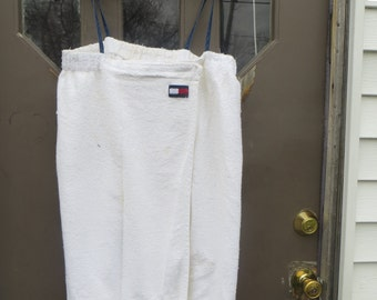 vtg tOMMY HILFIGER After Bath Terry Cloth  Wrap large /xlarge