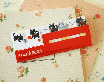 Cute Cats Stick & Memo sticker note tabs