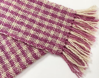 Hand Woven Scarf in Handspun Wensleydale Yarn, Cornwall, UK