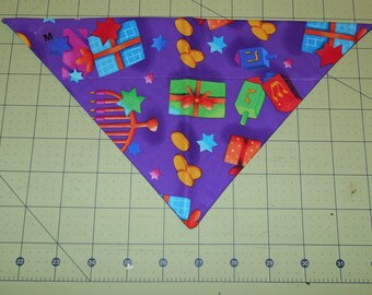 Dog Bandana, Hanukkah, Neckerchief, Menorah, Gelt, Star of David