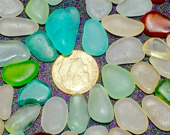 "Sea Glass or Beach Glass of Hawaii 50! AQUA! OCEAN BLUE! 1/2""  Bulk Sea Glass! Bulk Sea Glass! Sea Glass Bulk! For jewelry!"