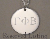 For turton2311- Greek letter symbol necklace Sorority necklace pendant sterling silver 3/4 inch round circle charm UDLGREEK