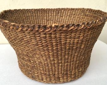 Old Native American Basket Woven Basket