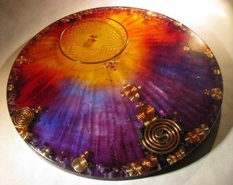 Orgonite Mandala - Dreamcatcher and Amethyst