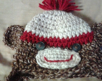 alpaca sock monkey hat