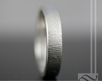 Dimpled Texture Wedding Band