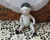 Vintage Doll Body, Antique Doll, late 1800's, Bisque Doll, Small Doll, Figurine, Miniature Doll