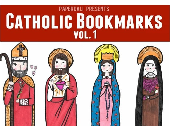 Catholic Bookmarks to Color [Printables]