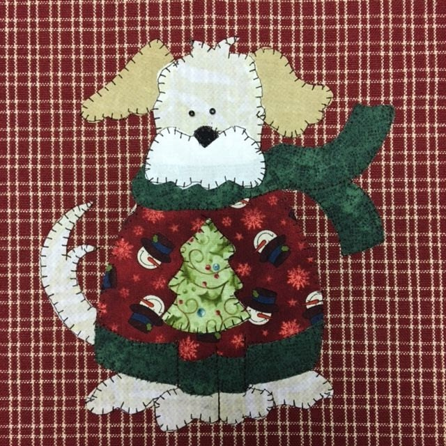 Wilson In A Sweater A Sweet Dog Pdf Applique Pattern For Tea