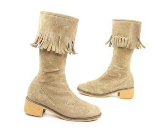Fringe boots size 9 | Etsy