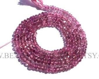 Pink Tourmaline Faceted Rondelle (Quality AA) / 2.70 to 3.50 mm / 36 cm / TOUR-017