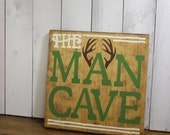 ON SALE MAN Cave/Antlers/Buck/hunting/Shelf Sitter/Camo colors/Male gift/Fan/Man stuff/Wood/Christmas Gift