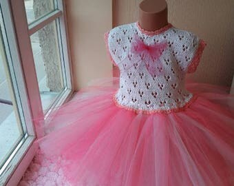 Girls 4th Birthday Outfit, 4th Birthday Girl, Girls tutu, pink tutu  dress,  for girls 4th birthday, pink tutu dress, 4th Birthday Party,