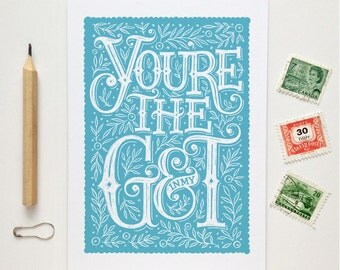 Gin and Tonic Card | G&T Card | G and T Card | Valentine Card | Anniversary Card | Gin Drinkers Card | Gin Birthday Card