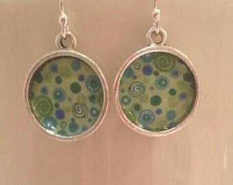 Spring Green Dangly Earrings