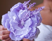 Large Lavender Fields Hair Flower Clip // High-End Fashion Accessory / Luxury Headpiece / Oversized Floral Clip / Artificial Purple Peony