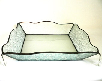 Matzah plate, Passover, Pesach, Gift, Judaica, Israel, Stained glass