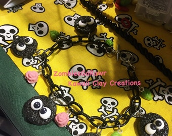 Soot Sprite Inspired Magical Dust Ball Charm Bracelet
