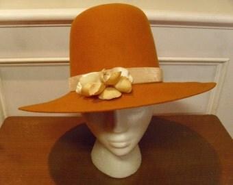 Vintage 1960's  Betmar  Henry Pollack  Wide Brimmed Wool Hat