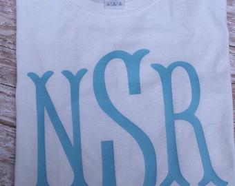 Girls monogrammed tshirt shirt