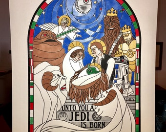 Star Wars Holiday/Christmas Special screenprinted poster. - Signed Limited Edition of 78. (6-color)