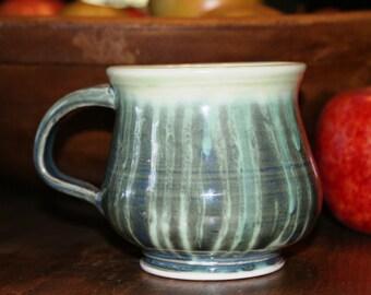 Ceramic Mug / Porcelain Mug / Shades of Green
