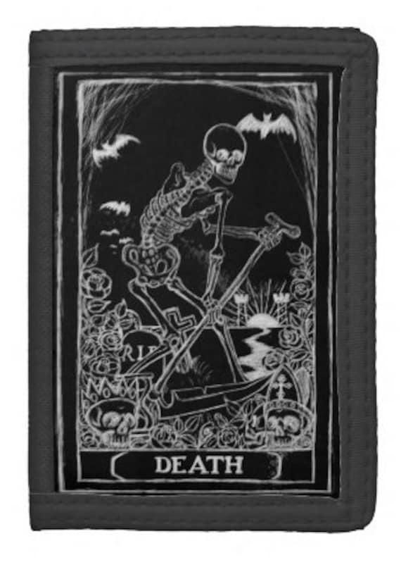 Death Card Tarot trifold wallet