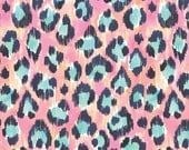 Blend Fabric's, Tropical Paradise Leopard (Pink) 1 yard