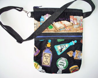 Mystical Magic Potions Quilted Purse,Quilted Inside/Out,Handcrafted Your Choice,Large Waist Belt Bag,Shoulder Cross Body Bag,Harry Potter