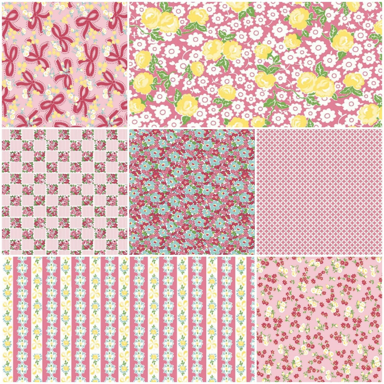 Dainty Darling Fabric by Lindsay Wilkes for Riley Blake Designs - Pink Colorway - 7 yards