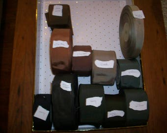 Finest antique grosgrain ribbon in my stock cotton and rayon