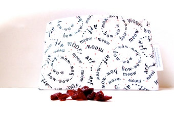 Woof and Meow Design Eco Friendly Reusable Snack Bag