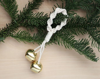 Macrame Jingle Bell Christmas Ornament
