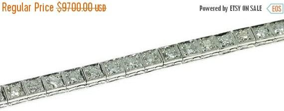 30% Off Winter Sale Vintage Diamond Tennis Bracelet Platinum